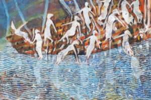 Tayseer Barakat, Shoreless Sea #6, 2019, acrylic on canvas, 70 x 50 cm