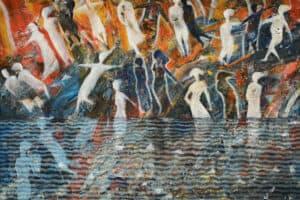 Tayseer Barakat, Shoreless Sea #13, 2019, acrylic on canvas, 70 x 50 cm