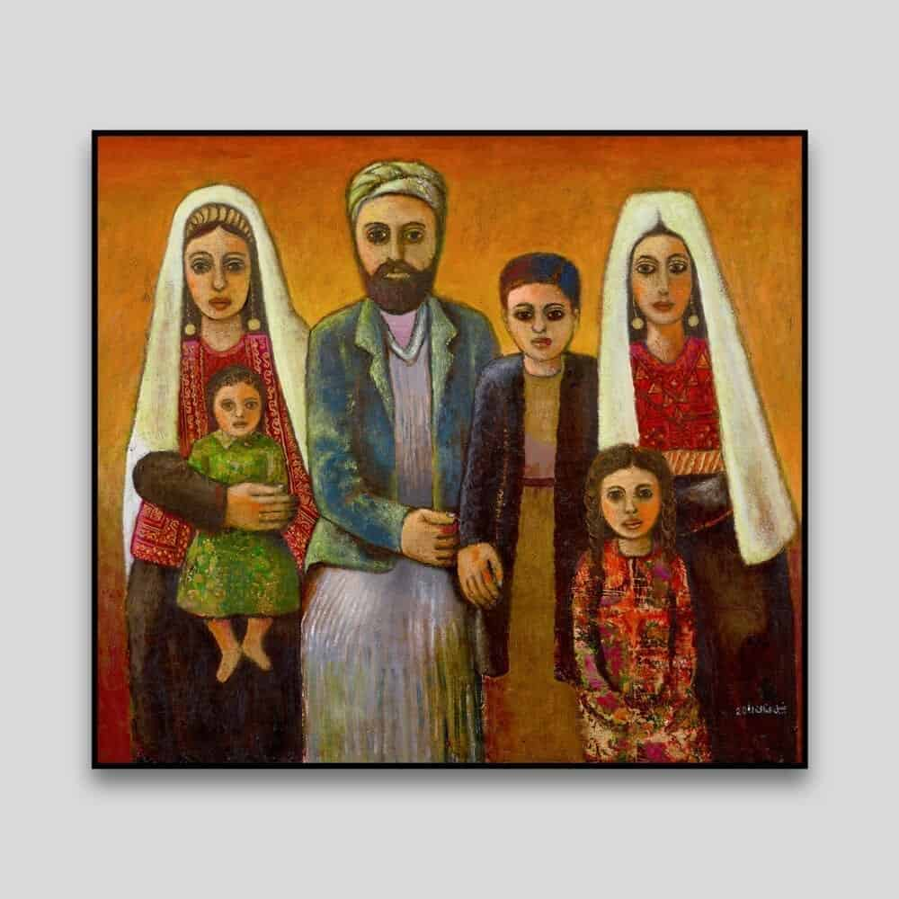 Dabdoub Family by Nabil Anani - Canvas