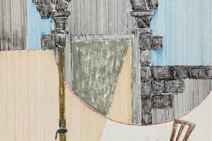 Yazan Abu Salameh, Remnants (2021), ink and acrylic on paper, 42 x 30 cm