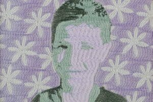 Monther Jawabreh, What is Known #4 (2014), embroidery on canvas, 24 x 23 cm