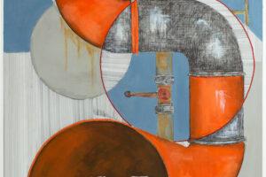 Yazan Abu Salameh, Congestion (2021), ink and acrylic on paper, 110 x 75 cm