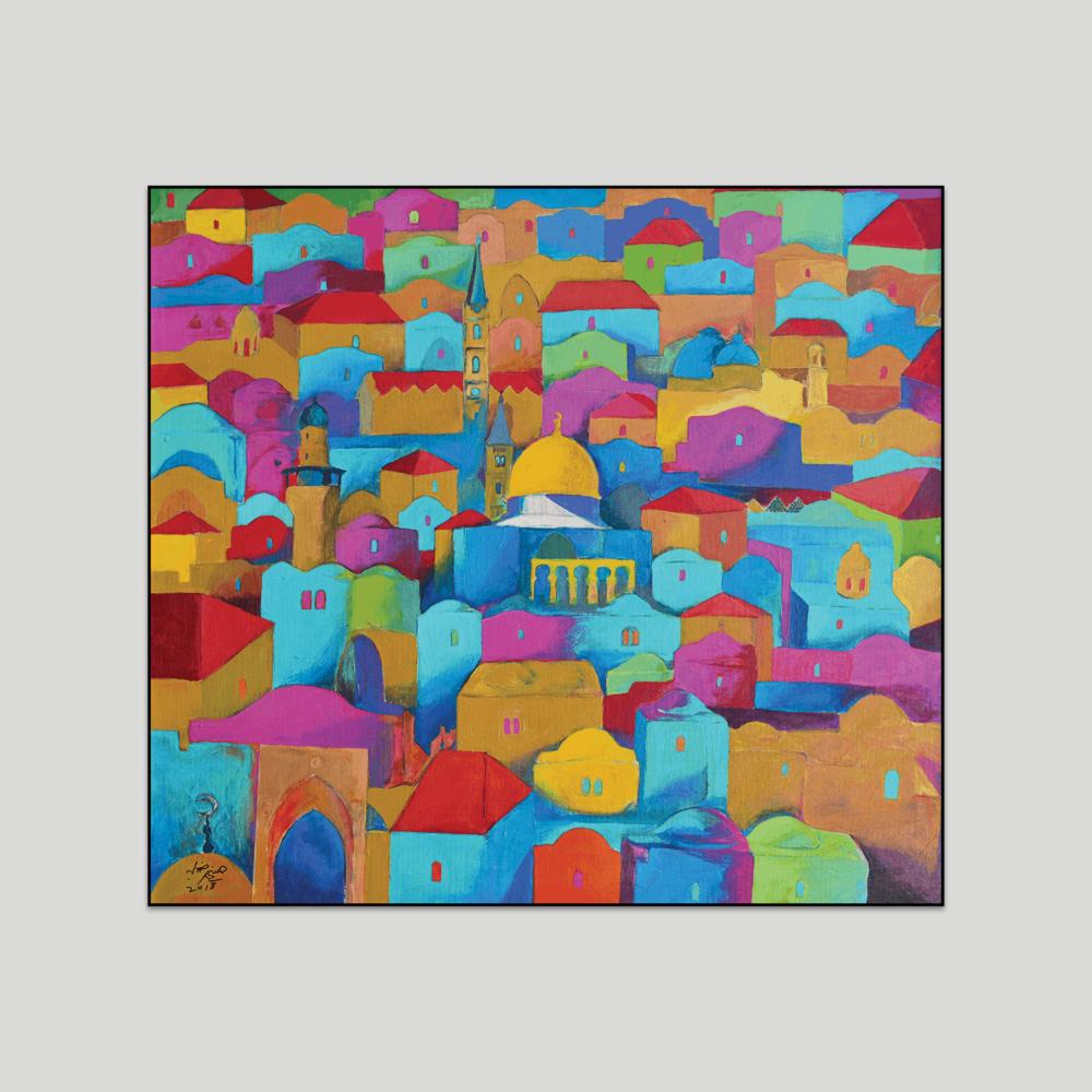 Jerusalem Canvas Print by Hosni Radwan