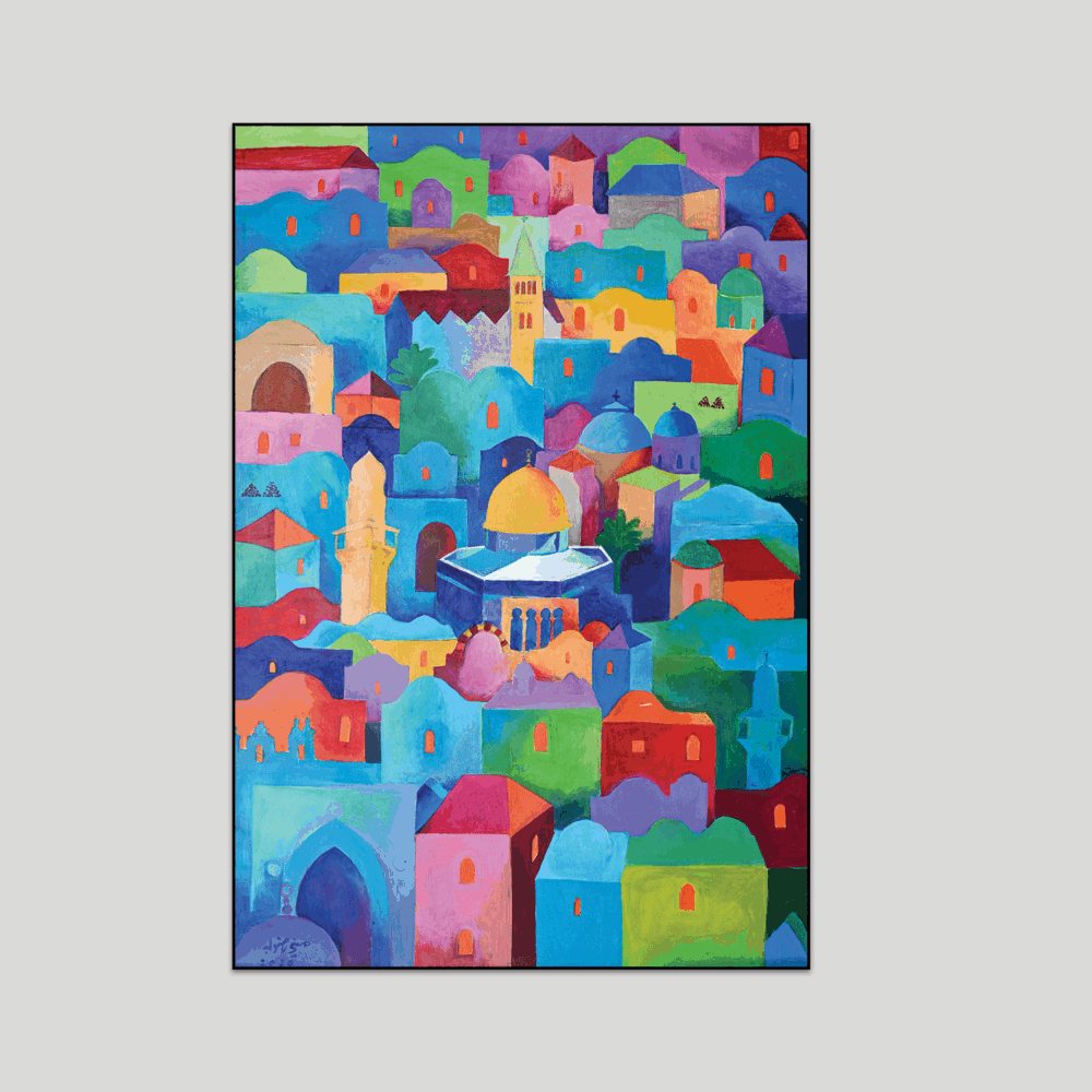 Jerusalem art print by Hosni Radwan