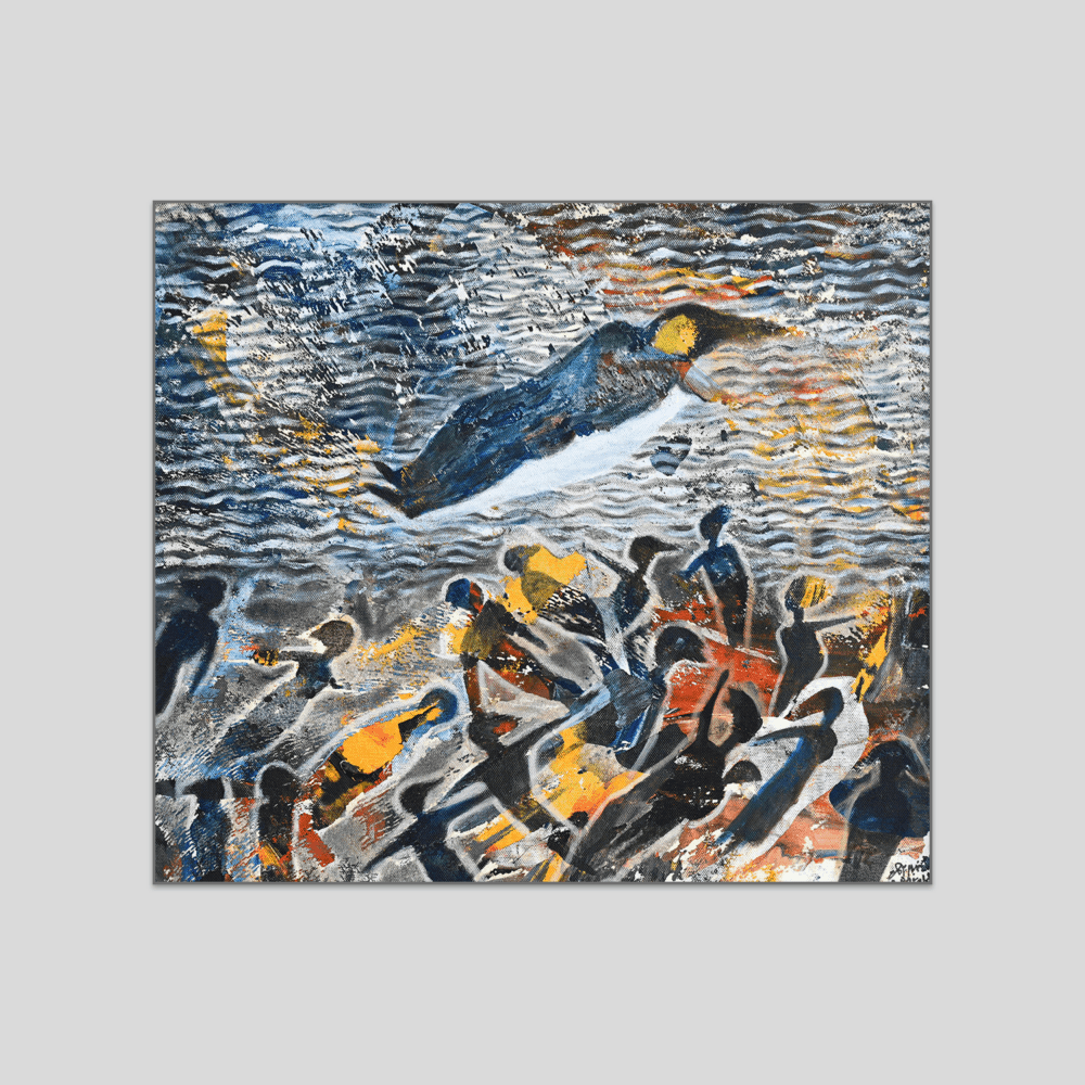 Tayseer Barakat Gaza Beach Canvas Print
