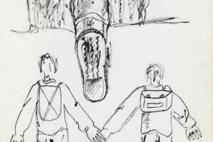Fayez Sirsawi, Untitled FS11 (1989), ink on paper, 23.5 x 16 cm