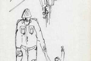 Fayez Sirsawi, Untitled FS10 (1989), ink on paper, 23.5 x 16 cm